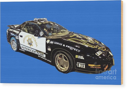 Highway Interceptor Art Wood Print