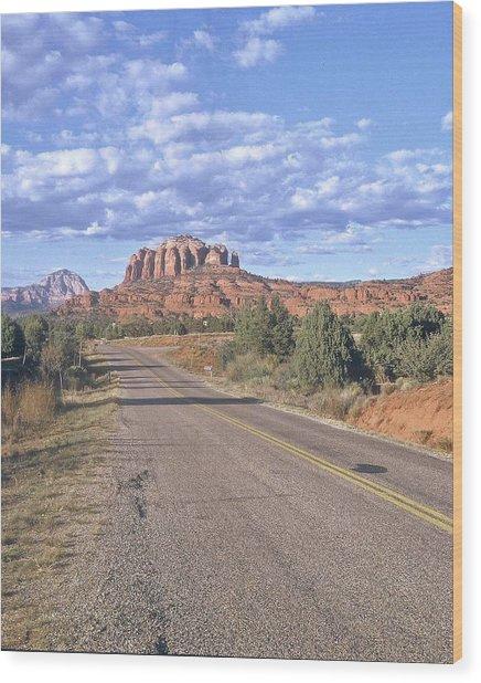 Highway To Sedona Wood Print
