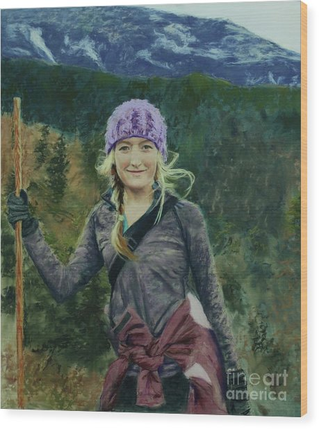 Hiking The White Mountains Wood Print