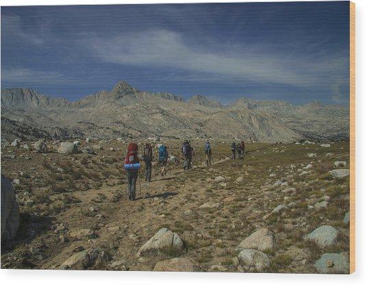 Hiking Through Humphrey Basin Wood Print