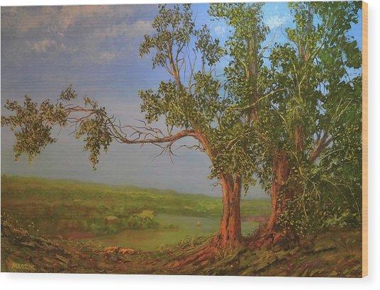 Hill Top Wood Print