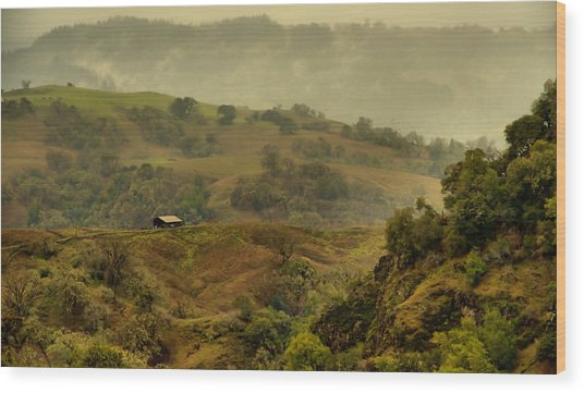 Hills Above Anderson Valley Wood Print