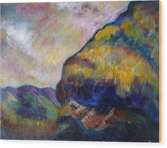 Hills Of Jamaica Wood Print by Kirkland  Clarke