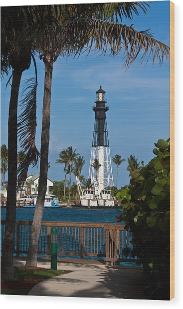 Hillsboro Inlet Lighthouse And Park Wood Print