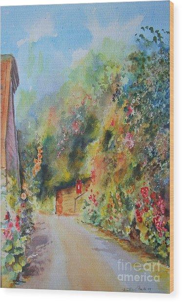 Hillside Street Hythe Kent Wood Print