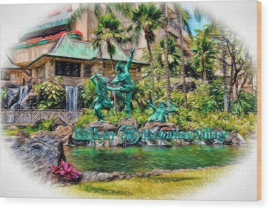 Hilton Hawaiian Village Waikiki Beach Resort Wood Print