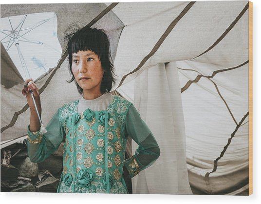 Himalayan Girl Wood Print