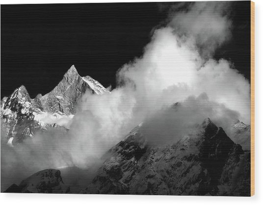 Himalayan Mountain Peak Wood Print