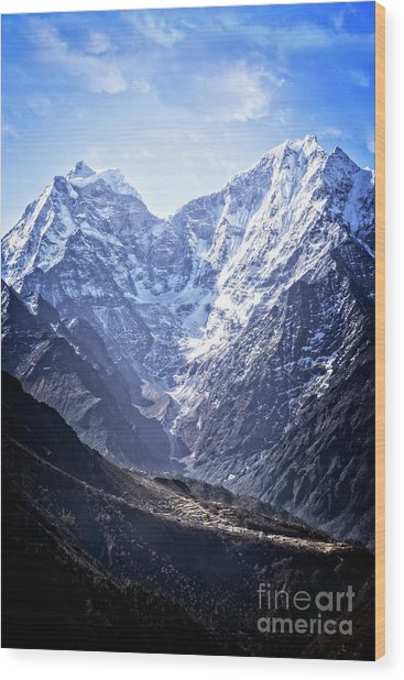 Himalayan Village Wood Print