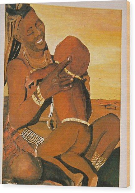 Himba Mom Wood Print by Desenclos Patrick