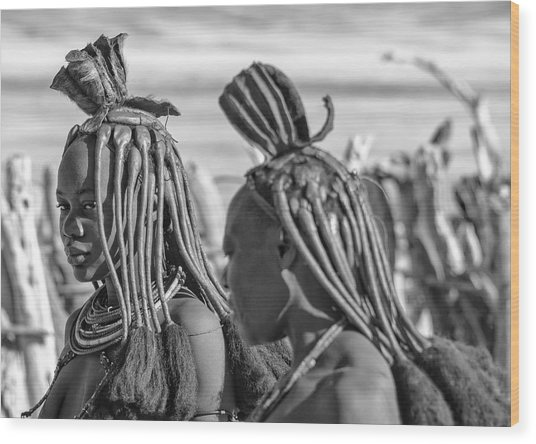 Wood Print featuring the photograph Himba Portrait 1 by Rand