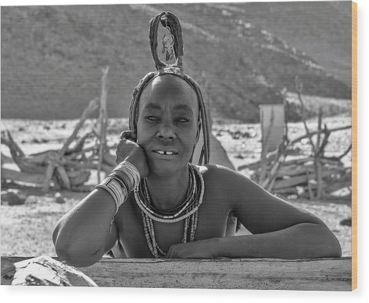 Wood Print featuring the photograph Himba Portrait 2 by Rand