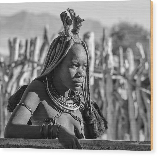 Wood Print featuring the photograph Himba Portrait by Rand