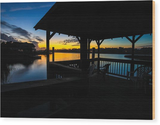 Hinson House Dock Verison Two Wood Print by Bill Cantey