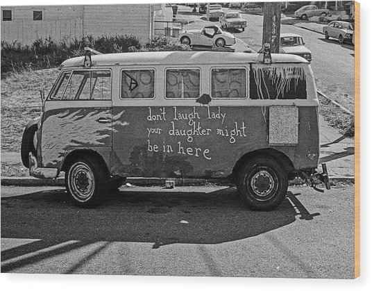 Hippie Van, San Francisco 1970's Wood Print