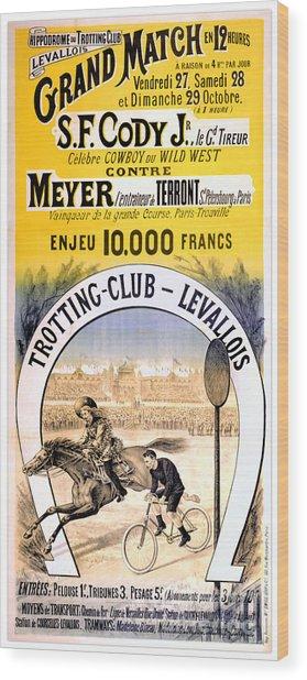 Hippodrome Du Trotting Club Levallois Wood Print