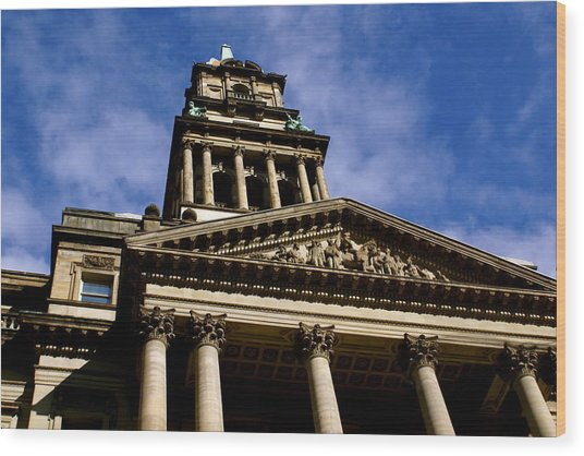 Historic Architecture Wood Print by Sonja Anderson