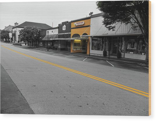 Historic Buford In Selective Color Wood Print