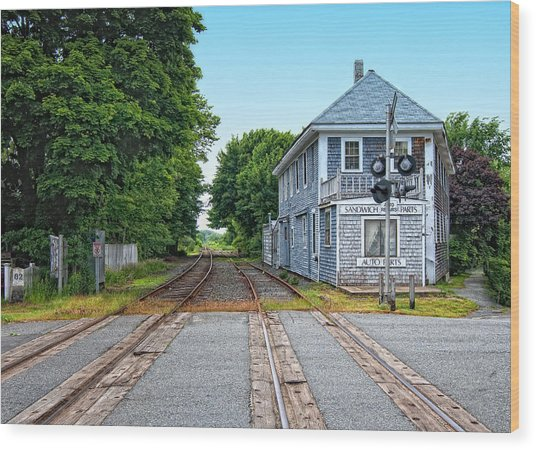 Historic Cape Cod Train Station Wood Print