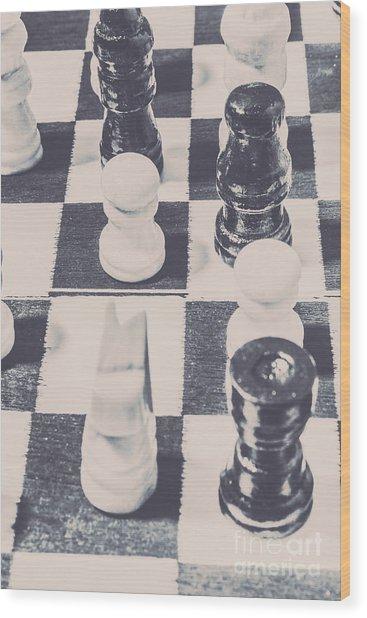 Historic Chess Nostalgia Wood Print