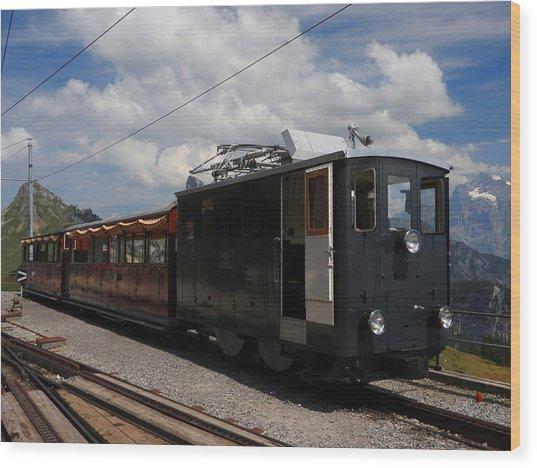 Historic Cogwheel Train  Wood Print