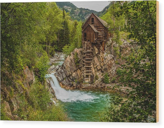Historic Crystal River Mill  Wood Print