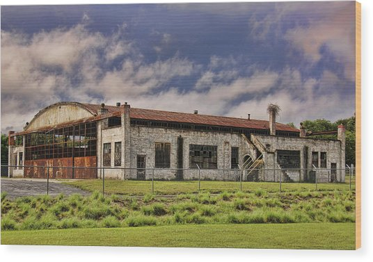 Historic Curtiss Wright Hanger Wood Print