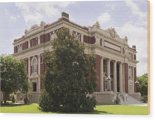 Historic Dillon County Sc Courthouse Wood Print