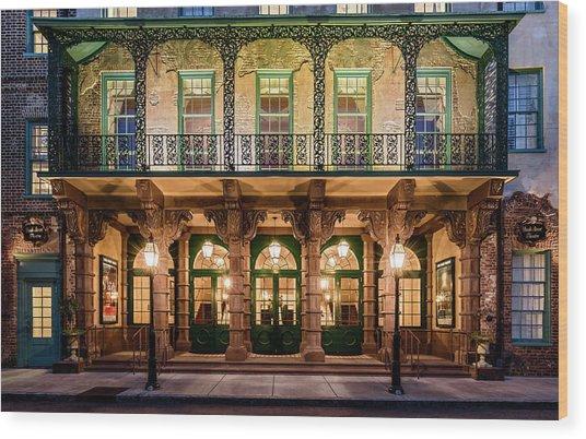 Historic Dock Street Theatre Wood Print