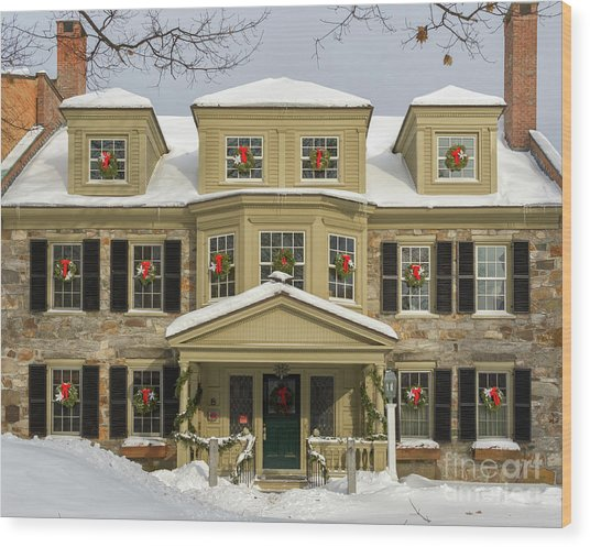 Historic Holidays Wood Print