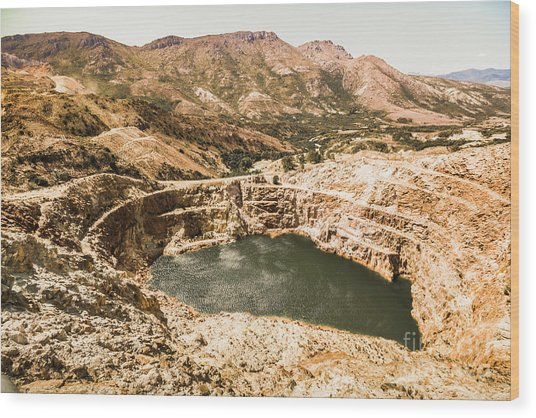 Historic Iron Ore Mine Wood Print