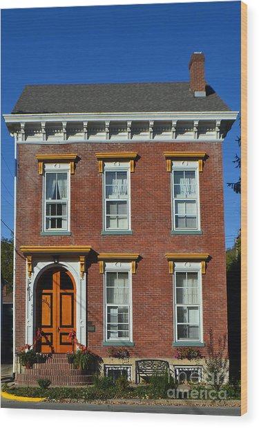 Historic Madison Row House Wood Print