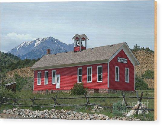 Historic Maysville School In Colorado Wood Print