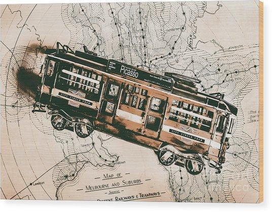 Historic Melbourne Tram Adventure Wood Print