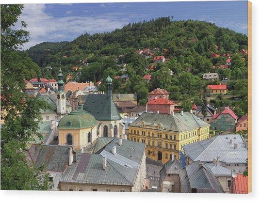 Historic Mining Town Banska Stiavnica, Slovakia Wood Print