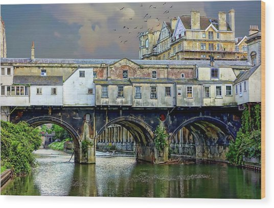 Historic Pulteney Bridge Wood Print