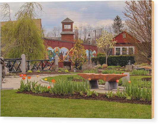 Historic Rail Station, Manhan Rail Trail Easthampton Wood Print