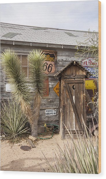 Historic Route 66 - Outhouse 1 Wood Print