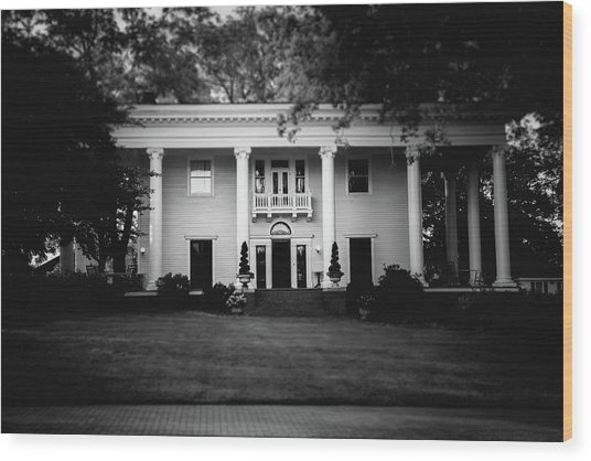 Historic Southern Home Wood Print