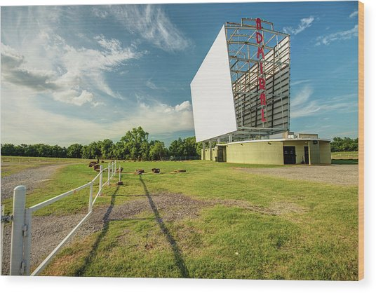 Historic Tulsa Admiral Twin Drive-in Wood Print