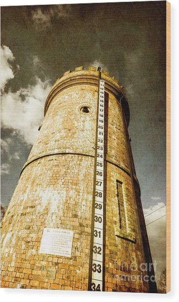 Historic Water Storage Structure Wood Print