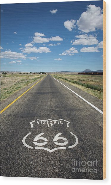 Historica Us Route 66 Arizona Wood Print