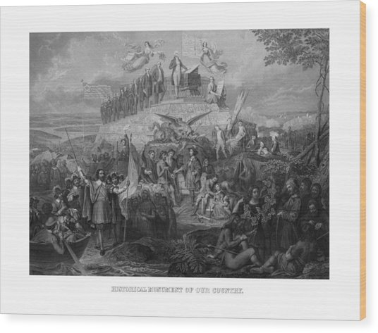 Historical Monument Of Our Country Wood Print