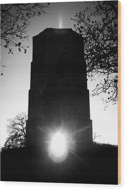 Historical Water Tower At Sunset Wood Print