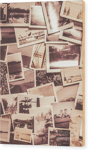 History In Still Photographs Wood Print