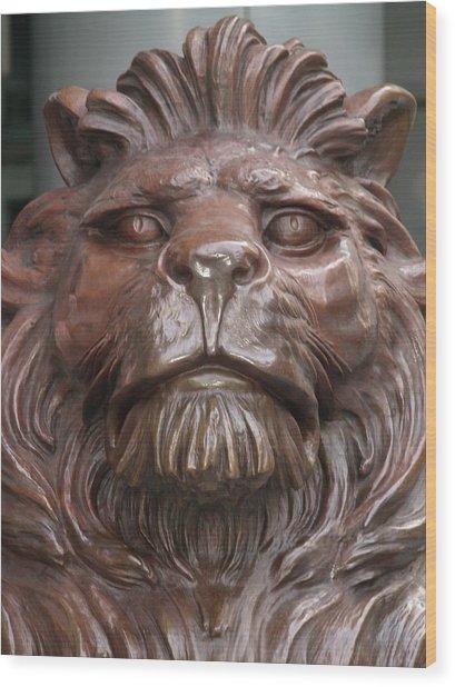 Hksb Lion Wood Print