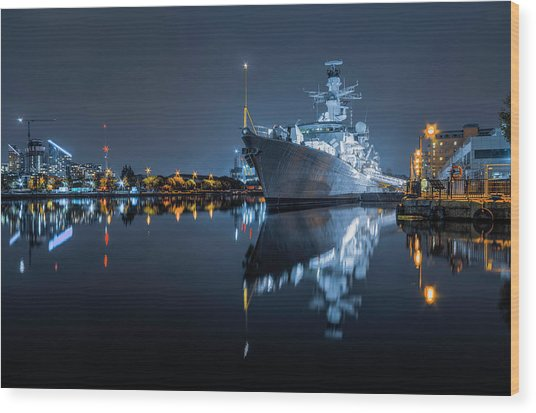 Hms Westminster Wood Print