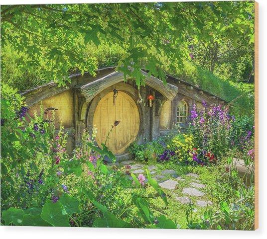 Hobbit Cottage Wood Print