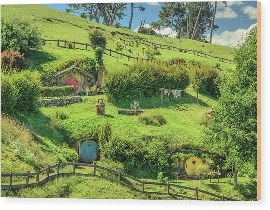 Hobbit Hills Wood Print