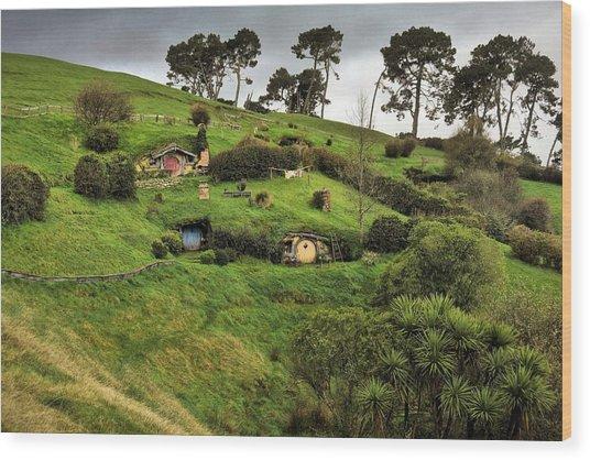 Hobbit Valley Wood Print